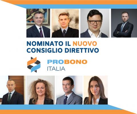 PRO BONO ITALIA'S NEW BOARD OF DIRECTORS