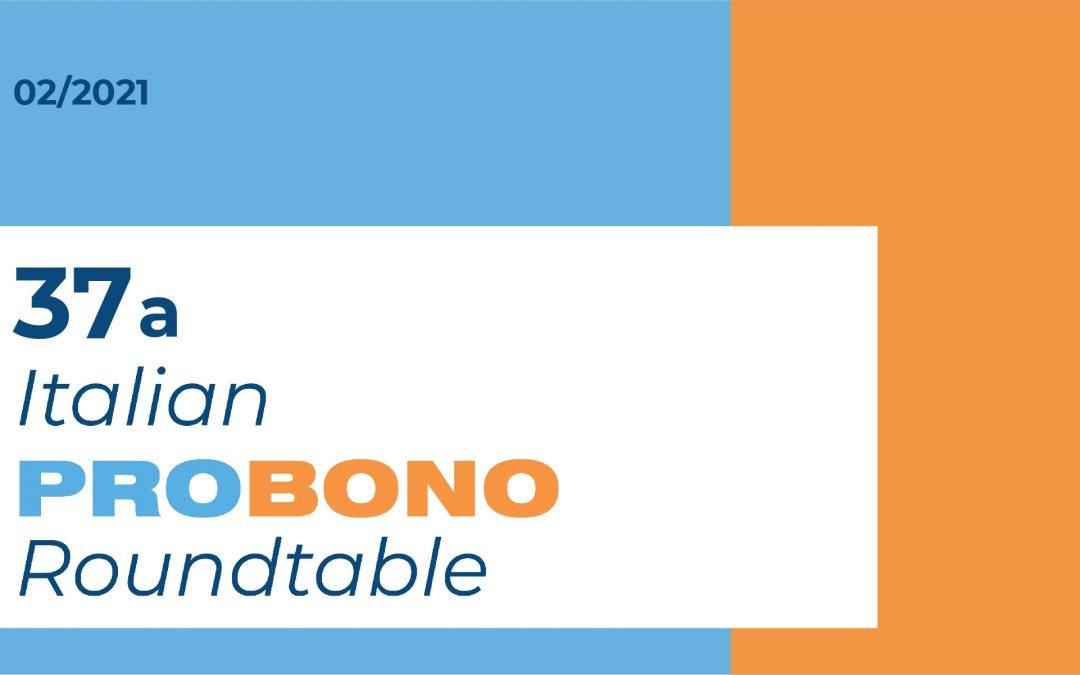 37A ITALIAN PRO BONO ROUNDTABLE