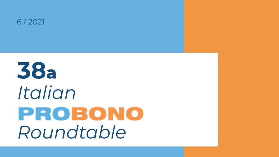 38A ITALIAN PRO BONO ROUNDTABLE